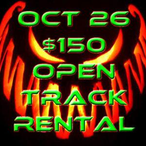 October 26 –  Track Rental Pre Register